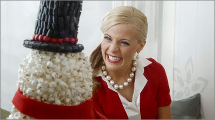 The Target Lady began appearing in Christmas commercials as early as mid-November.